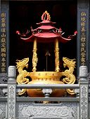 Large Gilded Incense Burner In Taiwan