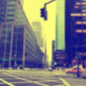 Blurred image of city scene.Vintage style.