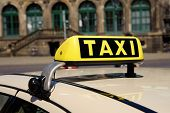 Taxi sign on car in Dresden