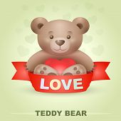 Cute bear with heart