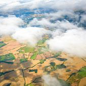 picture of float-plane  - Beautiful cloud sky view from aeroplane window - JPG