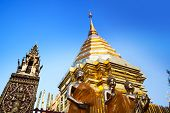 Buddhist Temple, Wat Phra That Doi Suthep, Chiang Mai, Landmark And Tourist Attractions In Thailand.