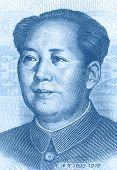image of zedong  - One hundred Yuan banknote isolated on a white background - JPG