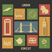London vector flat icons