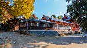 Tamukeyama Hachimangu in Nara in Autumn