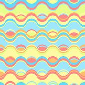 Seamless Bright Retro Abstract Geometric Pattern With Waves And Ripples