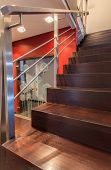 Ruby House - Modern Wooden Stairs