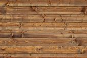 stock photo of log fence  - Wooden cabin wall panel  - JPG