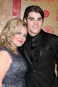 vLOS ANGELES - JAN 12:  Dyna Mitte, RJ Mitte at the HBO 2014 Golden Globe Party  at Beverly Hilton H