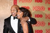 vLOS ANGELES - JAN 12:  Mike Tyson, Angela Bassett at the HBO 2014 Golden Globe Party  at Beverly Hi