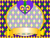 Mardi Gras background design with place for text. Raster version