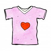 cartoon t shirt with love heart