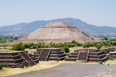 View of the Pyramid of the Sun, from the Pyramid of the Moon in Teotihuacan, Mexico