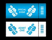 Admit One Ticket With Special Flower Design