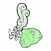 cartoon smelly old fish head