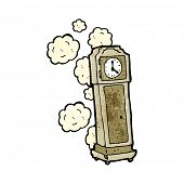 cartoon old grandfather clock