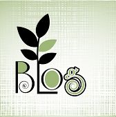 Blog icon organic fabric pattern behind - green