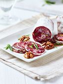 French Salami with Walnuts