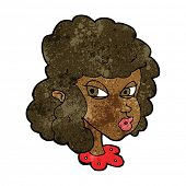 cartoon suspicious woman