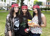 Alawites girls with their red bandana