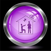 Home affiance. Internet button. Vector illustration.