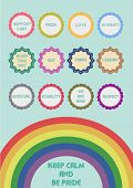 stock photo of transexual  - vector illustration of labels for LGBT community - JPG