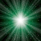 vector abstract background with green star burst