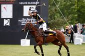 JERSEY CITY, NJ-MAY 31: Nacho Figueras in action during the polo match at the 7th Annual Veuve Cliqu