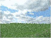 vector mosaic landscape