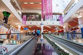 Samara, Russia - June 8, 2014: Inside Of The Park House Samara Mall. The One Of Largest Shopping Cen