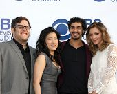 LOS ANGELES - MAY 19:  Ari Stidham, Jadyn Wong, Elyes Gabel, Katharine McPhee at the CBS Summer Soir