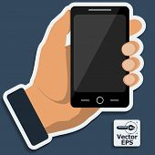Smartphone In Hand. Vector.