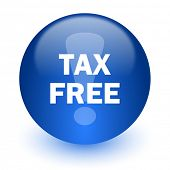 tax free computer icon on white background