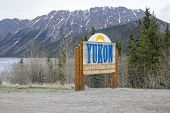 Yukon Signage at the Alaskan Border