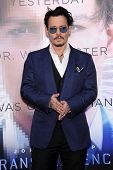 LOS ANGELES - APR 10:  Johnny Depp arrives to the 'Transcendence' Los Angeles Premiere  on April 10,