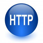 http computer icon on white background