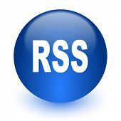 rss computer icon on white background