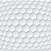 Illustration of Abstract Hexahedrons Design Background.