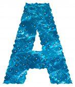 Aqua Font - Letter A