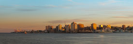 stock photo of dartmouth  - Panorama of Halifax Nova Scotia at sunset  - JPG