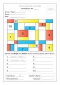 Worksheet - Identify Shape & Colour