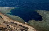 Famous diving and free diving spot Blue Hole. Red Sea, Egypt