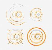 Thin line neat design logo set, clean modern concept, camera idea