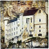 Rocamadour . medieval castle in rock, France