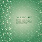 Vintage green floral card design
