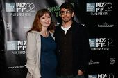 NEW YORK-OCT 4: Actor Jorma Taccone (R) and wife Marielle Heller attend the 'Inherent Vice' World Premiere at the New York Film Festival at Alice Tully Hall on October 4, 2014 in New York City.