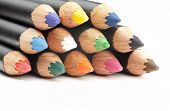Closeup Of Coloring Pencils.