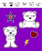 cute polar bear baby cartoon