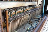 picture of rainbow piano  - Vintage piano parts - JPG