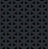 Dark abstract vector background with a metal grid. Seamless texture